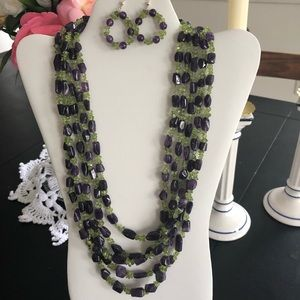 Jay King lolite multistrand necklace and earrings